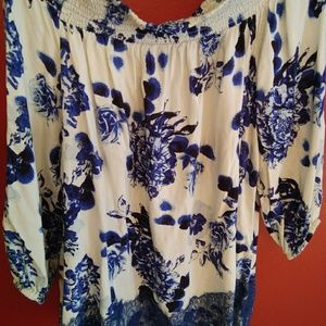 Chelsea & Theodore floral off-shoulder blouse